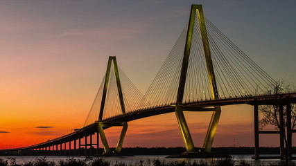 Timelapse of Arthur Ravenel Jr. Bridge in Charleston SC