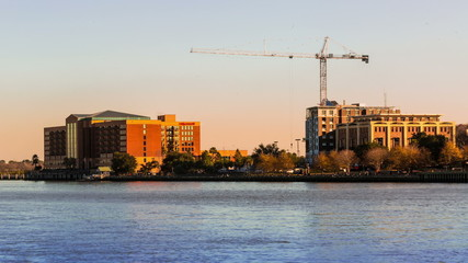 Timelapse of crane construction in Savannah GA