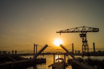 Toyosu sunset