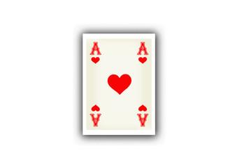 Spielkarte Herz
