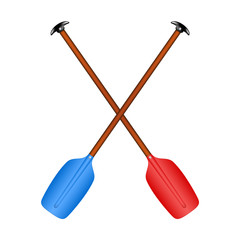 Two crossed paddles