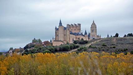 Alcazar of Segovia in november.  Castile and Leon, Spain