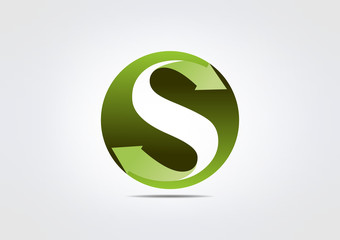 Logo S Symbol S business Icon Conection Circle