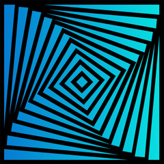 Blue and black optical illusion