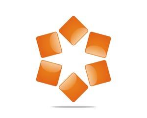Square Stars Logo Template