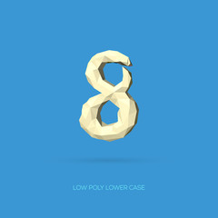 Low Poly Lower Case Alphabet Number 8