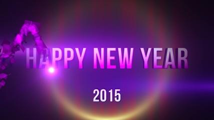 Happy New Year 2015 CG Footage