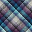 Paisley pattern on geometric background. - 75289505