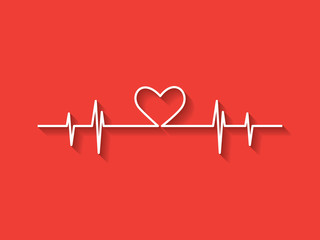 Heartbeat with heart