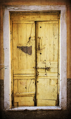 Old wooden grunge door