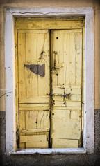 Old wooden grunge door