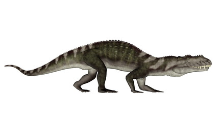 Prestosuchus dinosaur walking - 3D render