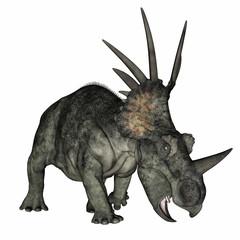 Styracosaurus dinosaur standing - 3D render
