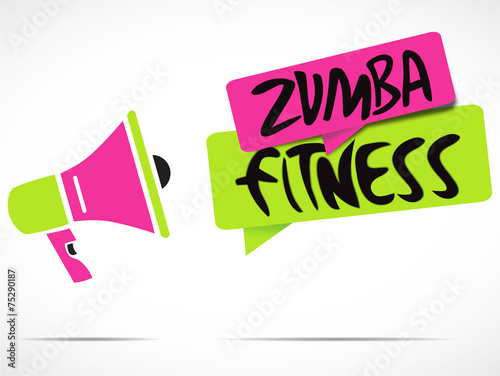 mégaphone : zumba fitness