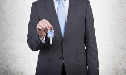 Businessman with key
