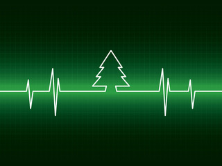 Heartbeat with tree