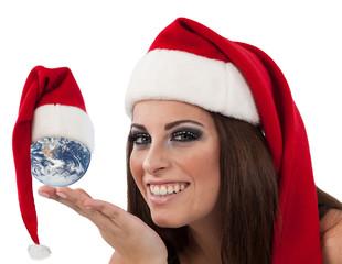 Donna e globo a Capodanno