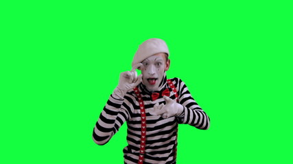 The mime uses an invisible camera