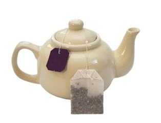thé bio et thèière beige