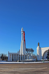 """The rocket """"Vostok"""" on the launch pad"""