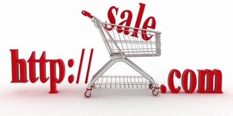 Concept of shopping on web sites of commercial