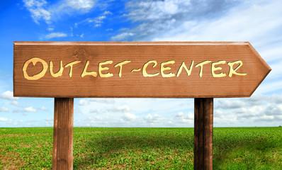 Strassenschild 30 - Outlet Center