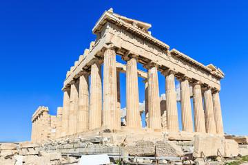 Parthenon temple on the Acropolis of Athens, Greece