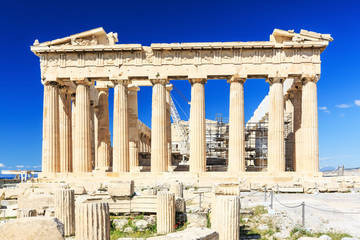 Parthenon on the Acropolis of Athens,Greece