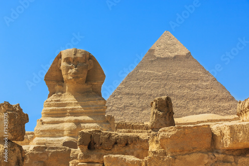 Foto op Aluminium Egypte Pyramids from the Giza Plateau. Cairo, Egypt
