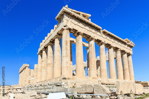 Fotobehang Athene Parthenon temple on the Acropolis of Athens, Greece
