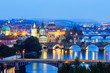 Bridges on Vltava. Prague, Czech Republic