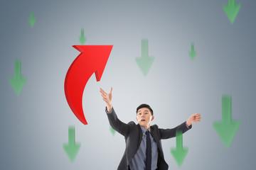 catch the upward arrow