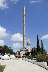 high Minaret near cave of the seven sleepers in Tarsus Turkey