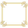frame with satin ribbons with bows