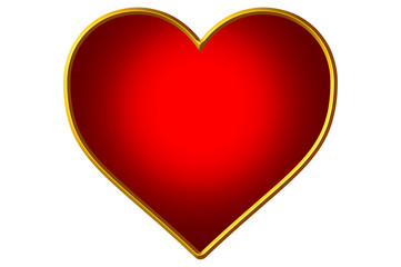 Monochromatic Red filled - Golden Heart