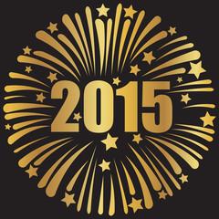 happy new year 2015 golden