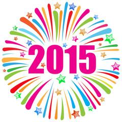 happy new year 2015 white