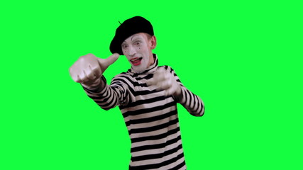 The mime shows thumb down