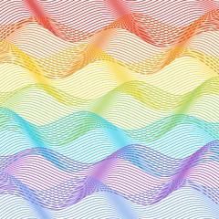 Tile with horizontal rainbow waves