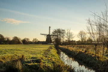 Landscape with a windmill and a canal