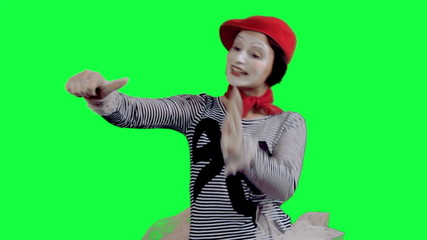 The mime showing thumbs up
