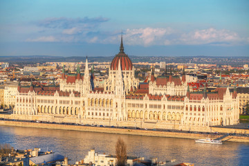 Parliament building in Budapest, Hungary