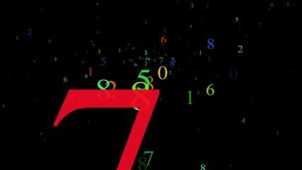 Numbers, Alpha Matte, Seamless Looping, 4K
