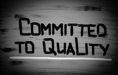 Committed To Quality Concept
