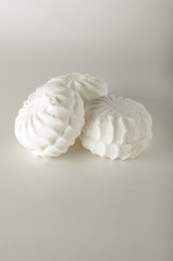 Marshmallow candies isolated with copyspace