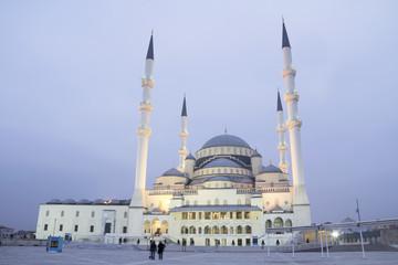 Ankara - Turkey, Kocatepe Mosque at dusk