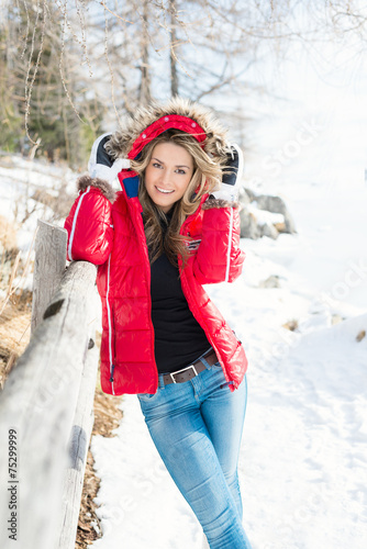 canvas print picture Winter (Ivana)