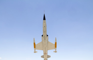 fighter jet from below - vintage model