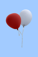 red and white balloon