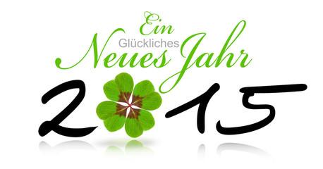 Glückliches Neues Jahr 2015 mit Klee